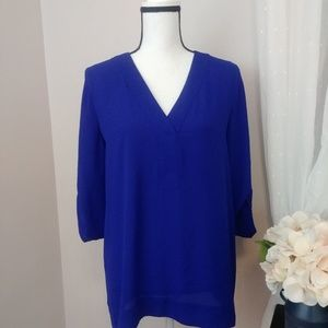 Chaus rolled sleeve blouse- Like New Condition
